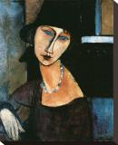 Jeanne Hebuterne Bedruckte aufgespannte Leinwand von Amedeo Modigliani