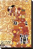 Die Umarmung Bedruckte aufgespannte Leinwand von Gustav Klimt