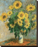 Sunflowers, c.1881 Stretched Canvas Print by Claude Monet