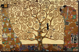 Livets träd Sträckt kanvastryck av Gustav Klimt