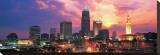Cleveland Skyline at Sunrise Sträckt kanvastryck