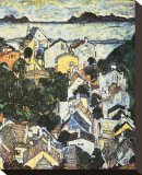 Summer Landscape, 1917 Stretched Canvas Print by Egon Schiele