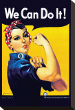 We Can Do It! (Rosie the Riveter) Bedruckte aufgespannte Leinwand von J. Howard Miller