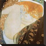 Danae Reproducción de lámina sobre lienzo por Gustav Klimt