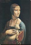 Lady with an Ermine Stretched Canvas Print by  Leonardo da Vinci