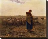 La Bergere, c.1814-1875 Impressão em tela esticada por Jean-François Millet
