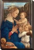 Adorazione, c.1406-1469 Opspændt lærredstryk af Fra Filippo Lippi