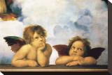 Cherubini Pingotettu canvasvedos tekijänä Raphael,