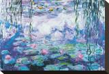 Nenúfares Reproducción de lámina sobre lienzo por Claude Monet