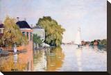 Landscape at Zaandan, c.1871 Stretched Canvas Print by Claude Monet