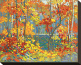 Lago Impressão em tela esticada por Tom Thomson