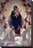 The Virgin with Angels Stretched Canvas Print by William Adolphe Bouguereau