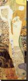 Water Serpents, c.1904-07 Opspændt lærredstryk af Gustav Klimt