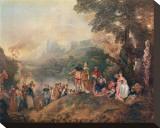 L'Embarquement pour Cytere, c.1684-1721 Opspændt lærredstryk af Jean Antoine Watteau