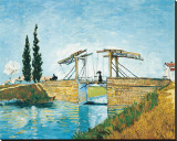 The Langlois Drawbridge Pingotettu canvasvedos tekijänä Vincent van Gogh