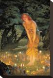 Midsummer Dream Trykk på strukket lerret av Edward Robert Hughes