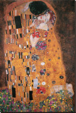 Kyssen, ca 1907 Sträckt kanvastryck av Gustav Klimt