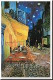 Detail van Caféterras bij nacht, Place du Forum, Arles, 1888 Kunst op gespannen canvas van Vincent van Gogh