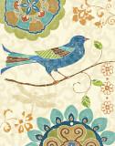 Eastern Tales Birds I Art par Daphne Brissonnet