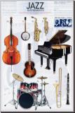 Jazz Instruments Toile tendue sur châssis