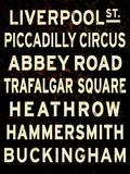 London Sign Kunstdrucke