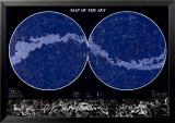 Karte vom Sternenhimmel Kunstdrucke