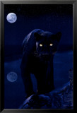 Black Panther in Moonlight Poster