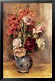 Vase of Gladiolas and Roses Poster von Pierre-Auguste Renoir