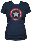 Juniors: Captain America - Shield Tシャツ