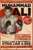 Muhammad Ali, vintage wedstrijdposter Print