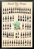 Grandes vinos tintos de Framcia Láminas
