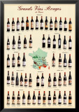Grands Vins Rouges de France Poster