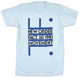 New Order - Fact. 50 1981 Movement T-skjorter