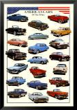 Cars American Cars of Fifties Kunstdrucke
