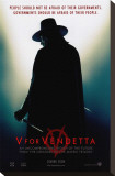 V for Vendetta Stretched Canvas Print