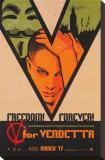 V for Vendetta Opspændt lærredstryk