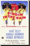 Filmposter Singin' In The Rain Kunst op gespannen canvas