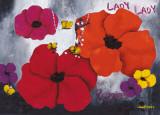 Lady Poppies Plakater af Aurélie Pfaadt