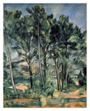 The Aqueduct at Montagne Sainte-Victoire Affiche par Paul Cézanne