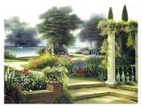 Summer Home Garden Print by Egidio Antonaccio