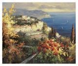 Mediterranean Seascape Art par Peter Bell