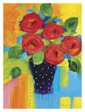 Spring Blooms In Blue Vase II Posters av Natasha Barnes