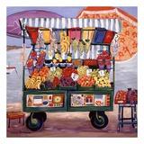 Markt am Meer Kunstdruck von Suzanne Etienne