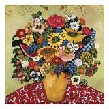 APears with Garden Flowers Poster von Suzanne Etienne