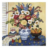 Ann's Favorite Blue And White Floral Poster von Suzanne Etienne