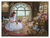 Jenny malt ihre Bären Poster von Janet Kruskamp