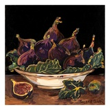 Bowl of Figs Print by Suzanne Etienne