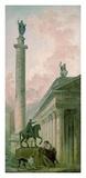 Roman Obelisk Affiches par Hubert Robert