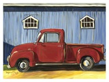 Red Truck Print by Suzanne Etienne