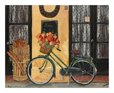Bicycle with Flowers Prints by Suzanne Etienne